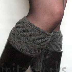 Boot cuffs ankles collars leg warmer colored boots socks knitted cuffs