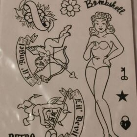 Rubber Stamp Bombshell Angel