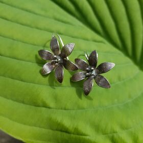 Ohrringe FLOWER antik silber
