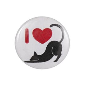 Button I Love Katzen