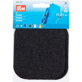 Patches Jeans, schwarz
