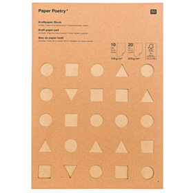 Kraftpapier Block, Mix, FSC