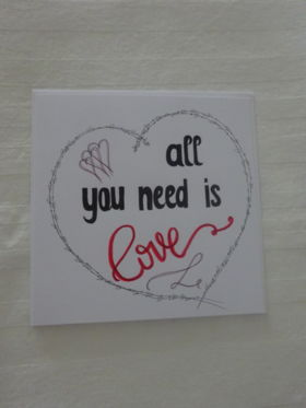 "Karte ""All you need is Love"""