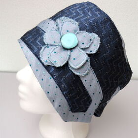 "Kravatten Cloche Hut ""Flower and Dots"""