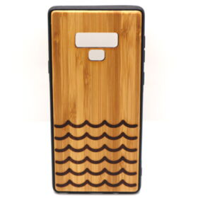 Handyhülle Samsung Note 9 aus Holz - Waves