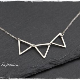 Triple Triangle - Sterling Silber Halskette