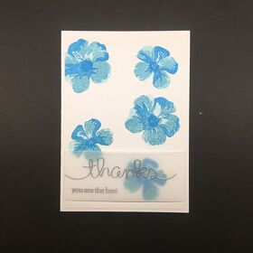 "DIY Dankes-Karte A6 ""Blue Flower"""