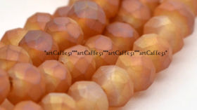 20Stk 4x3mm Abacus Frosted Caramel AB