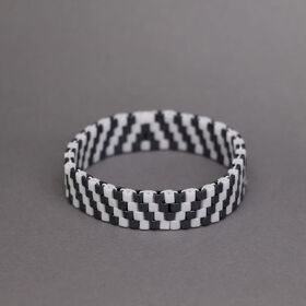 Armband anthrazit-weiss