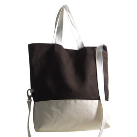 "Tote Bag Canvas gewachst Zeno"" braun"
