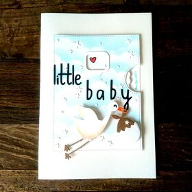 "Karte Storch ""little baby"""