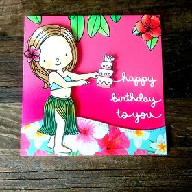"Karte Aloha ""happy birthday to you"""