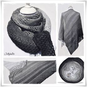 Strickanleitung Lace Shawl Black or White