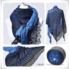 Strickanleitung Laceshawl Blue Mountain
