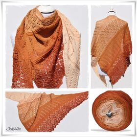 Strickanleitung Laceshawl Indian Summer